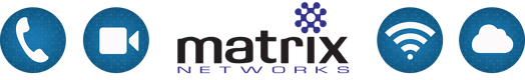 Matrix Networks Icon Set - voice, video, wi-fi, cloud
