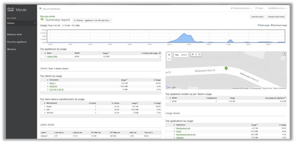 Meraki Firewall MX Dashboard - Matrix Networks Premier Cisco Partner Portland Oregon