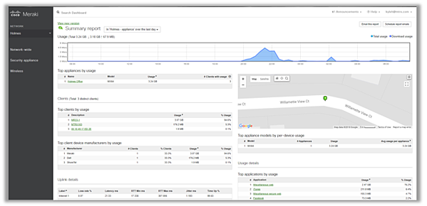 Meraki Firewall MX Dashboard - Matrix Networks Premier Cisco Partner Portland Oregon