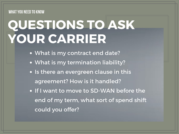 Questions to ask your Carrier about Sd-WAN