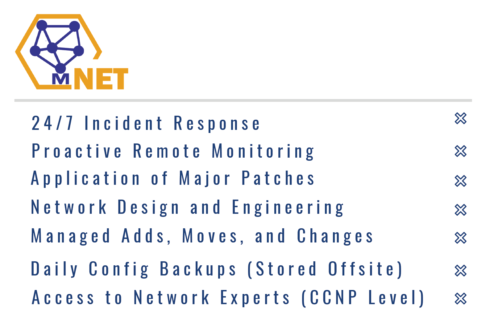 mNET features - Matrix Networks Managed Networks Service